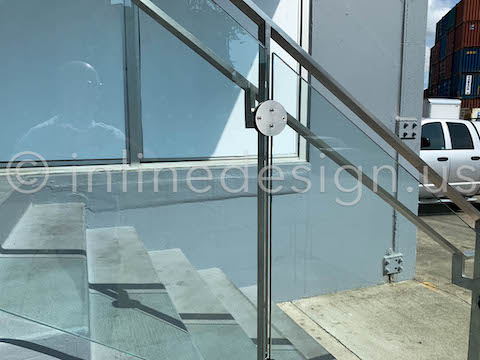 railing guardrail glass clamps