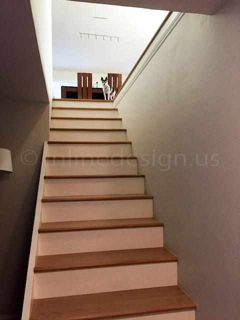 before stairways