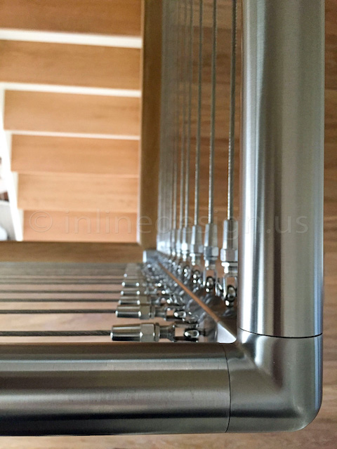 top view railing cables