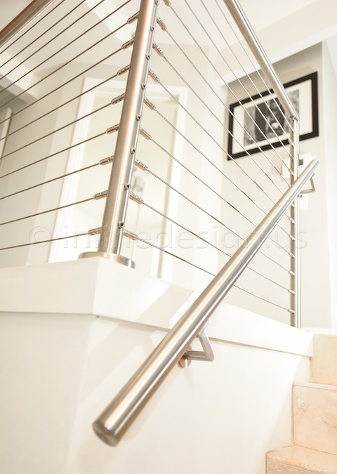 In Line Design : Mark ca modern stainless steel cable and glass railing