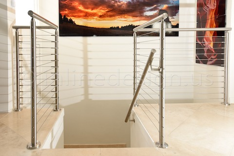 stainless steel cable railing san francisco stairs