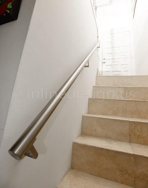 stainless steel handrail brackets round