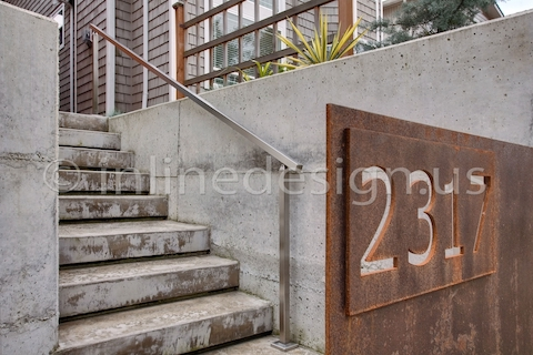 stainless steel handrail grabrail square outdoor deck