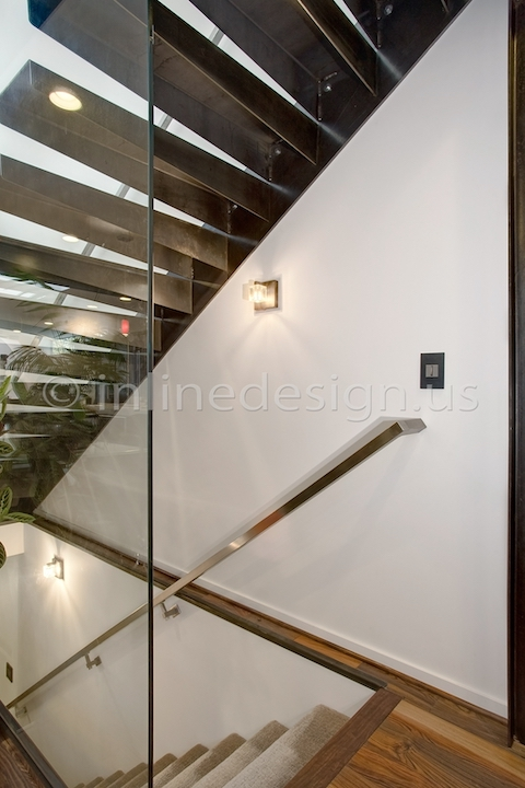 stainless steel handrail wall btacket square tubing modern