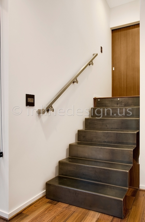 stainless steel handrail wall btacket square tubing stairs