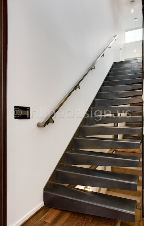 stainless steel handrail wall btacket square tubing
