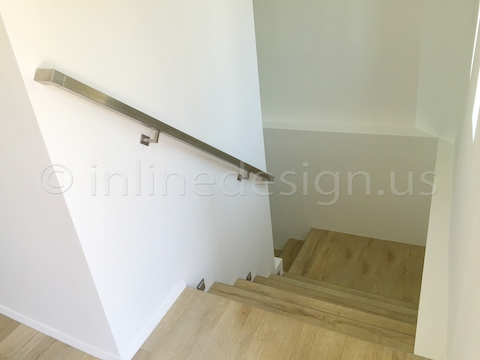 stainless steel handrail down stairs
