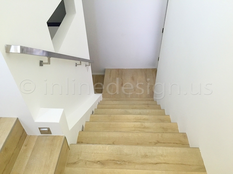 stainless steel handrail down