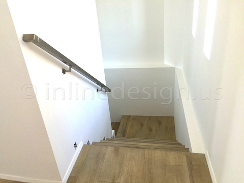 stainless steel handrail wall