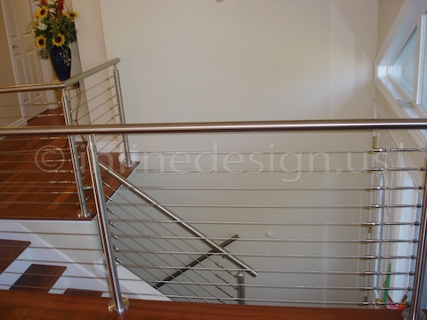 stainless steel railing cable house interior design