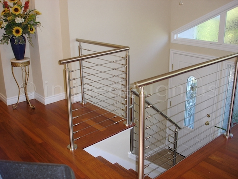 stainless steel railing cable wood floor