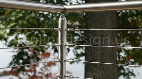 stainless steel cable railing autocad