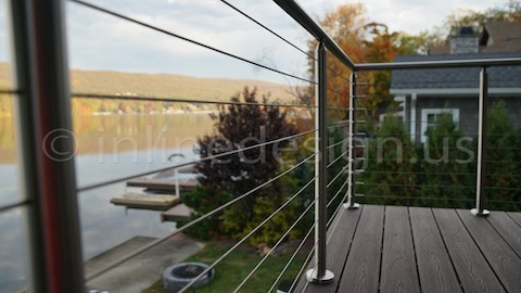 stainless steel cable railing blue