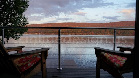 stainless steel cable railing clouds