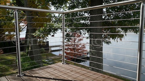 stainless steel cable railing corner