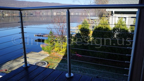 stainless steel cable railing deck