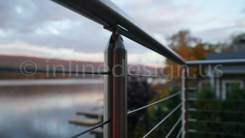 stainless steel cable railing exterior