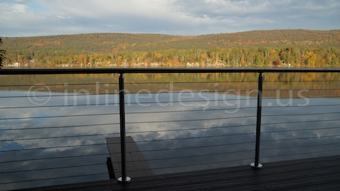 stainless steel cable railing forest