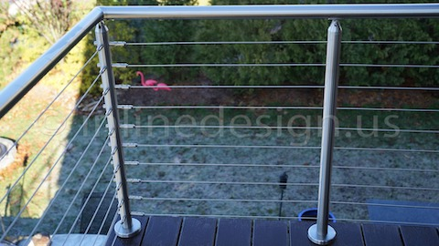 stainless steel cable railing grass