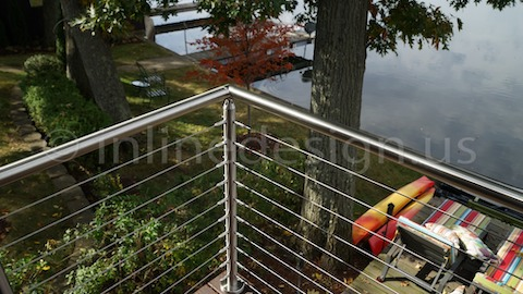 stainless steel cable railing inline