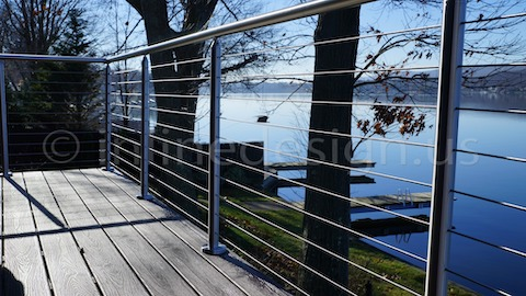 stainless steel cable railing lake