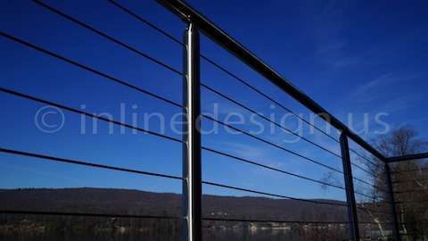 stainless steel cable railing sky