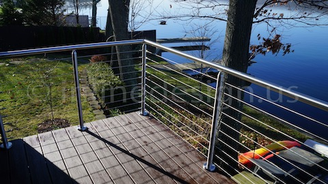 stainless steel cable railing tree
