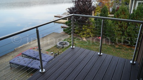stainless steel cable railing view
