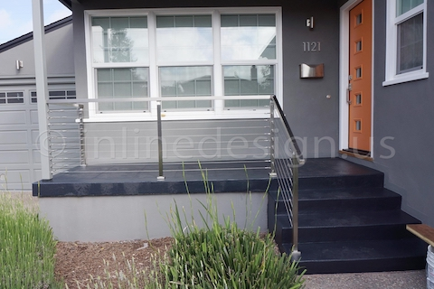 stainless steel cable railing outdoor square post