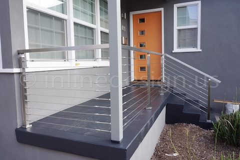 stainless steel cable railing porch square post