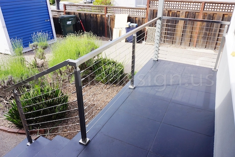 stainless steel cable railing pyramid square post
