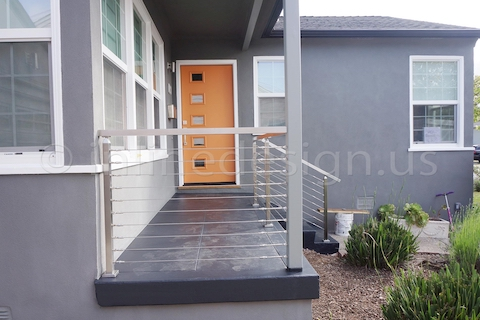 stainless steel cable railing square post