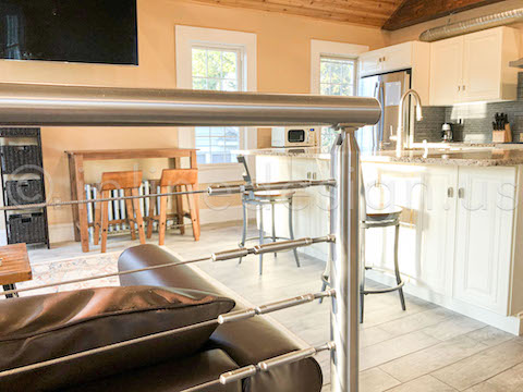 6' cable railing in chrome
