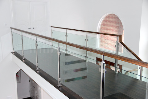 glass railing arcade