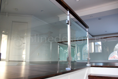 glass railing catwalk