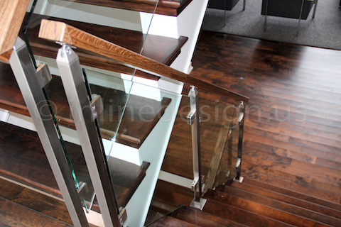 glass railing dining room