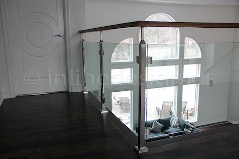 glass railing door