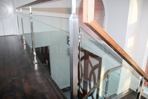 glass railing entry