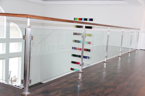 glass railing extension