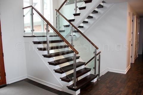 glass railing hallway