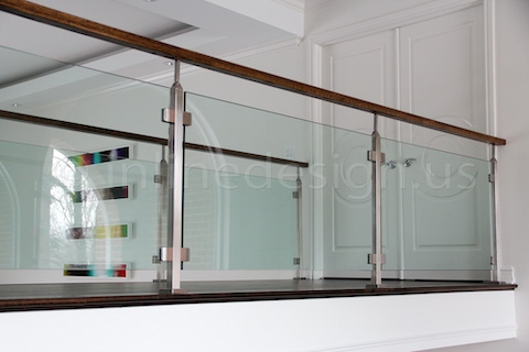 glass railing hardwood floor