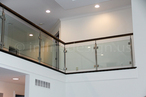 glass railing heating