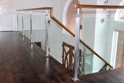 glass railing light