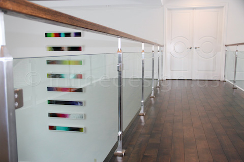 glass railing painting