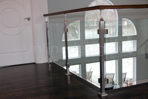 glass railing pretty