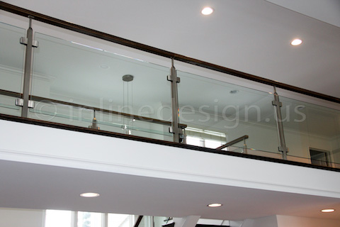 glass railing recessed light
