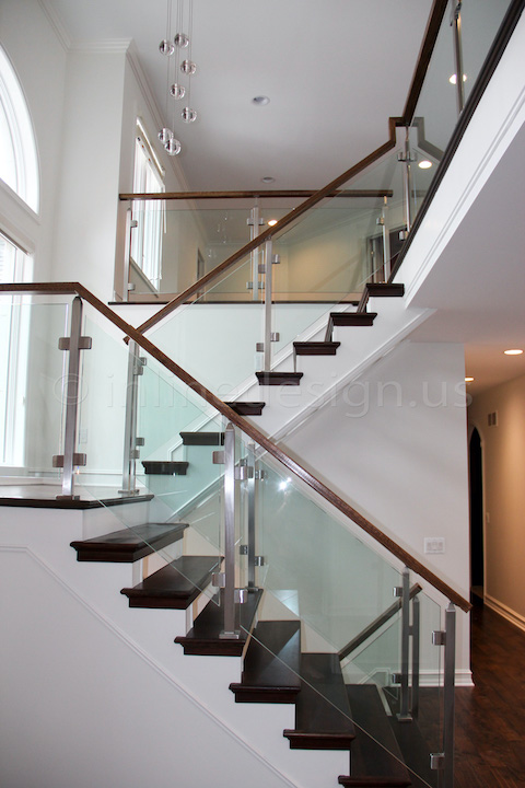 glass railing side view