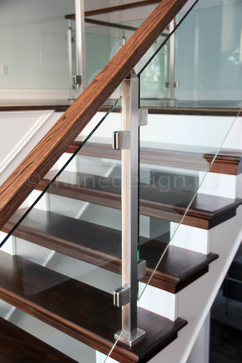 glass railing stairs