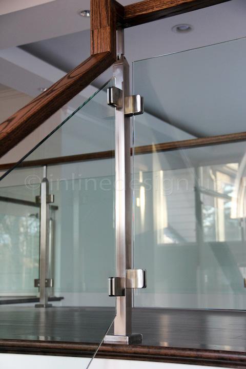 glass railing stairway