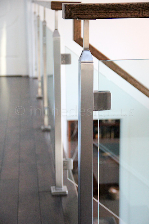 glass railing straight run
